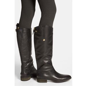 Sam Edelman Black Knee-High Riding Boot